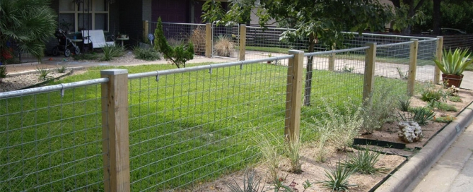 fencing around a house