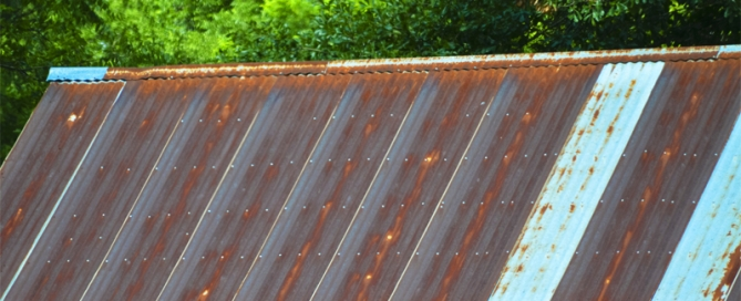 Metal roofs rust